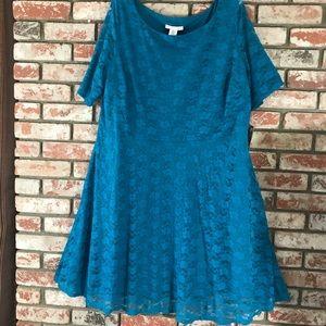 Women's dress size 3x blue Wishes NWT